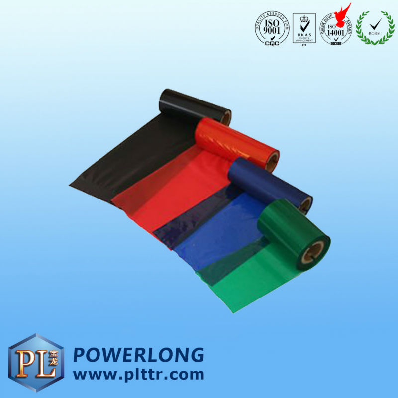 color wax thermal transfer carbon ribbon
